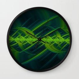 Cross Hatch - Green - Fractal - Manafold Art Wall Clock