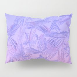 Frost on a window. Pillow Sham