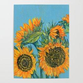 Birthday Sunflowers Poster