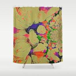 RAINBOW FLORA STARBURST Shower Curtain