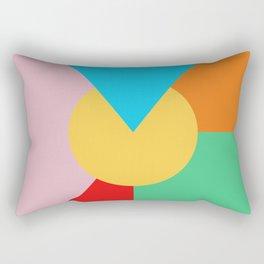 Circle Series - Summer Palette No. 3 Rectangular Pillow