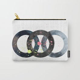 Circles And Splatters Carry-All Pouch