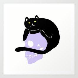 CAT HELMET Art Print