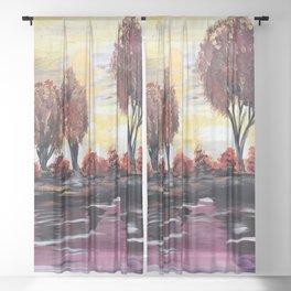 Autumn Sundown Sheer Curtain