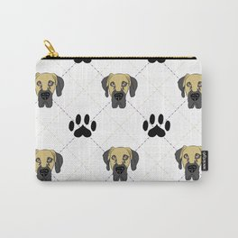 Faun Great Dane Paw Print Pattern Carry-All Pouch