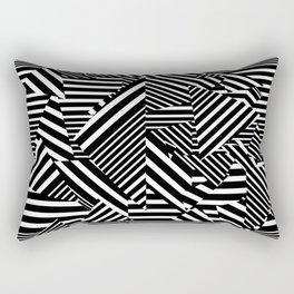 Dazzle Camo #01 - Black & White Rectangular Pillow