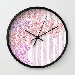 Springing in the blossoming Wall Clock