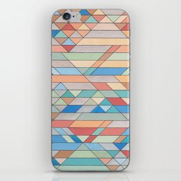 Triangle Pattern no.2 Colorful iPhone Skin