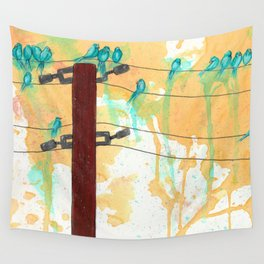 Birds on the Line Wall Tapestry