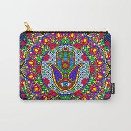 Hamsa Harmony Mandala Carry-All Pouch