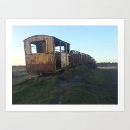 Rusted Train Art Print