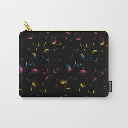 Dandelion Seeds Pansexual Pride (black background) Carry-All Pouch