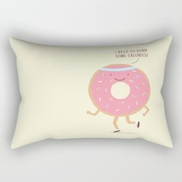 The Donut workout Rectangular Pillow
