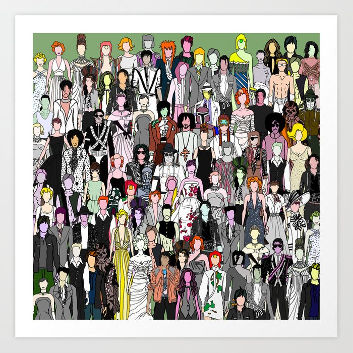 Tokyo Punks - Retro Green Art Print