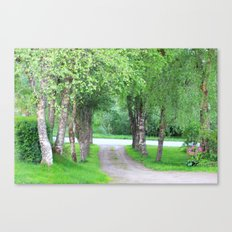 Spring night in Norway Canvas Print