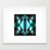the flash Framed Art Prints featuring Flash by FakeFred