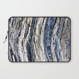 Gray Beige Blue Jagged Rock Stripes Laptop Sleeve