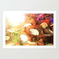 coconut wishes Art Prints featuring COCONUT by Laura James Cook