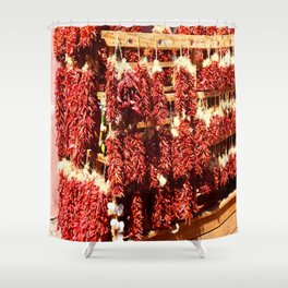 Red Chili Ristra And Gralic Shower Curtain