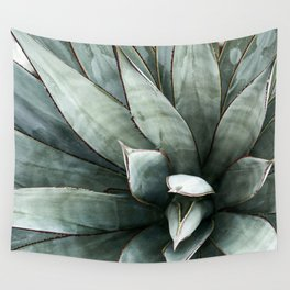 Botanical Succulents // Dusty Blue Green Desert Cactus High Quality Photograph Wall Tapestry