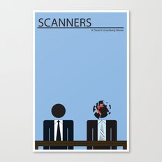 Scanners - Altenative Movie Poster Canvas Print