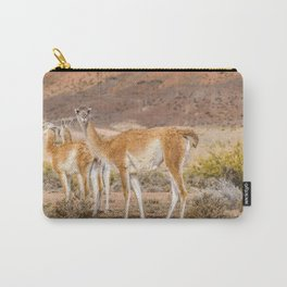 Group of Guanacos at Patagonia, Argentina Carry-All Pouch