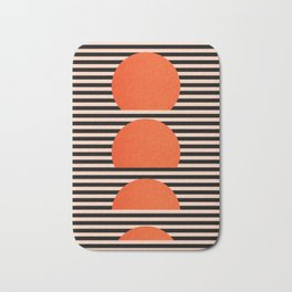 Abstraction_SUNSET_LINE_ART_Minimalism_001 Bath Mat