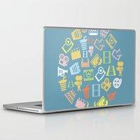 cinema Laptop & iPad Skins featuring Cinema circle by aleksander1