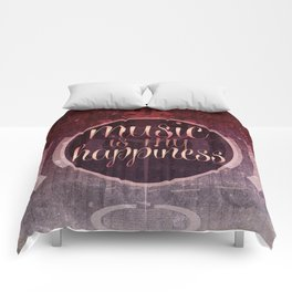 music is my happiness | music theme Comforters