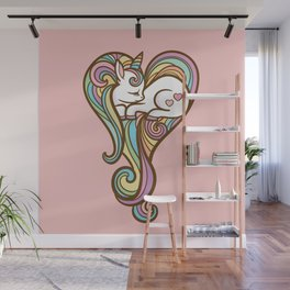 Sleeping Unicorn Wall Mural
