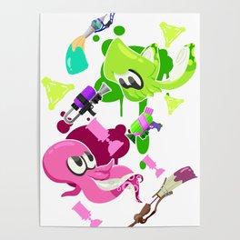 Splatoon 2 - Squid vs Octo Poster