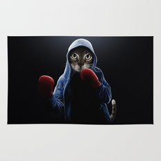 Boxing Cool Cat Rug