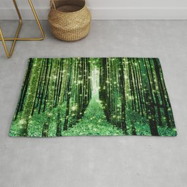 Magical Forest Green Elegance Rug