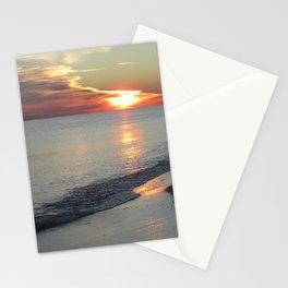 Winter Beach Sunset Stationery Cards
