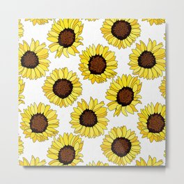 Sunflowers are the New Roses! - White Metal Print