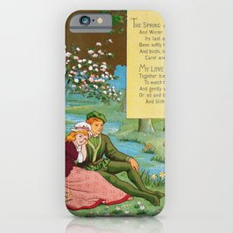 Kate Greenaway - Valentine, The spring - Digital Remastered Edition iPhone Case