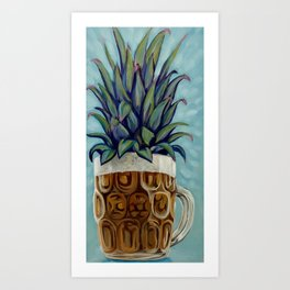 Pineapple beer Art Print
