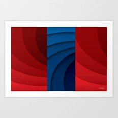 Red and blue color gradient Art Print