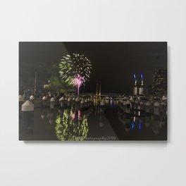 Fireworks at Docklands, Australia Metal Print