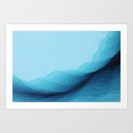 Glacial Crevasse Art Print