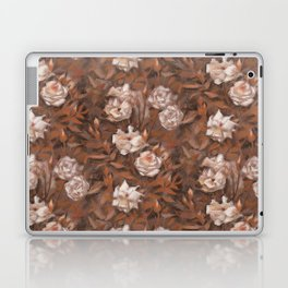 White roses in earth shades Laptop & iPad Skin
