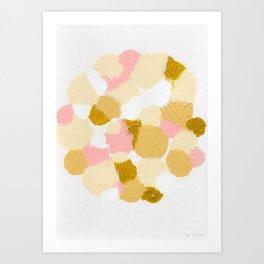 Gold pink Art Print
