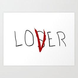 lo(v)er Art Print