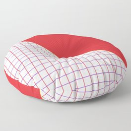 Geometrics in Red and Purple Floor Pillow