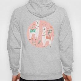 Lovely Llama on Pink Hoody