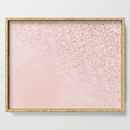 She Sparkles Rose Gold Pastel Light Pink Luxe Serving Tray