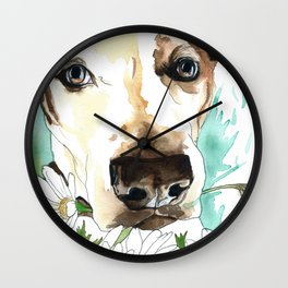 Watercolor Wildflowers & her Bestie Wall Clock