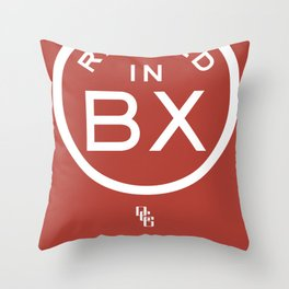 Raised in BX Throw Pillow