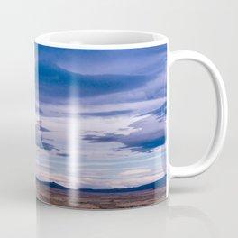 Wind and empty roads in Patagonia. Coffee Mug