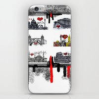cities iPhone & iPod Skins featuring Cities 2 by sladja